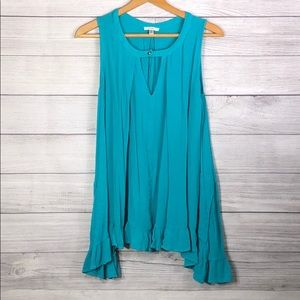 Jodifl - Aqua Blue, Flowy Tunic - Small